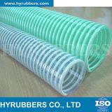 Manguito reforzado flexible de la succión del agua de la hélice del PVC