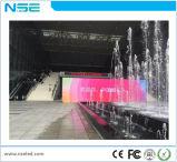 Instalación fija al aire libre P10 que hace publicidad de la visualización del LED TV