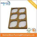 Venta al por mayor 6 paquetes de Kraft del papel de la caja de la magdalena (QYZ070)