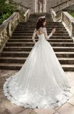 OEM de Lange Kleding van de Toga van het Huwelijk van de Koker Moslim Bruids (BH004)