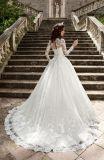 с платья венчания Ballgown длинней втулки плеча мусульманского (BH004)