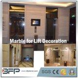 Бежевый естественный мрамор для нутряной рамки подъема/лифта
