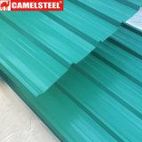 Цветная бумага с покрытием из гофрированного картона листа крыши