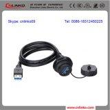 シンセンのプラスチック耐圧防爆IP67プラグ3.0 USBジャックのコネクターまたは延長ケーブルのソケット
