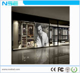 Visualización de LED transparente a todo color publicitaria de interior del producto caliente P5mm