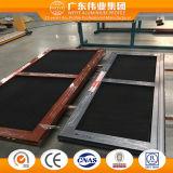 Chinese Fabrikant Drie Sporen verdubbelt het Verglaasde Glijdende Venster van de Legering van het Aluminium