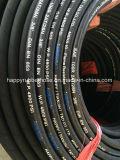 SAE100r2/2sn double tresse de fil flexible hydraulique