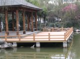 WPCの庭シリーズ製品のパビリオンの花ボックスベンチ