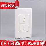 Doble RJ 11 2 Core / Core 4 Teléfono Tel Socket