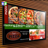 Snap Aluminum White Picture Frame Slim LED Light Box para Sinal da loja