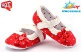 Großhandelsblumen-Entwurfs-einzelne Spitze-Schuh-weiche Sohle-Innenkleinkind-Babyschuhe