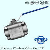 Válvula de bola de acero inoxidable roscada de alta presión de 2 piezas