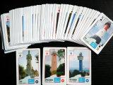 Карточки бумаги Гдыня Sightseeing играя для Польши (55 карточек)