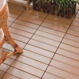 プラスチックDeckingをかみ合わせる熱い販売WPCは木製DIYの床タイルをタイルを張る