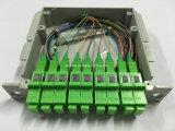 1X8 PLC van de Vezel van het Type van tussenvoegsel de Optische Schakelaar van de Splitser Sc/APC
