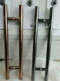 アパート黒いカラーステンレス鋼のドアハンドルの現代デザインドアハンドル