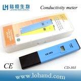Contador tamaño pequeño de la conductividad de la prueba de la EC de Digitaces del color azul (CD-303)