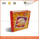 Bolsa de papel negra de lujo de la maneta de la alta calidad para el embalaje