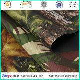 La PU del fabricante cubrió la tela impresa camuflaje de la materia textil para al aire libre