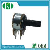 Potenziometro rotativo stereo di controllo di volume di Wh148-1b-2 16-17mm senza interruttore