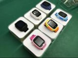 Q80 het Horloge van de Drijver van GPS/GSM voor Sos van de Kaart van het Horloge van Jonge geitjes de Slimme Drijver van het Merkteken van de Vinder van de Plaats van de Vraag voor Pk van de Gift van de Monitor van Kinderen Q60 Q50 Blauw