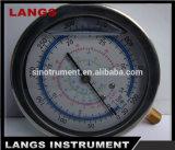 Calibre de pressão de Fillable do petróleo 066 com flange