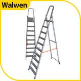 De hoogste Veilige Ladder van de Buis van het Aluminium van de Leuning van het Huishouden van 9 Stap