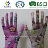 PU beschichteter Arbeits-Handschuh des Garten-13G (SL-G-PU2011)