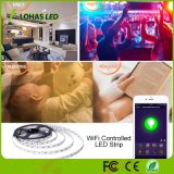 Kit astuto controllato impermeabile dell'indicatore luminoso di striscia di 12V 5m/Roll APP WiFi LED
