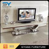 現代居間の家具MDFの大理石の上TVのキャビネット