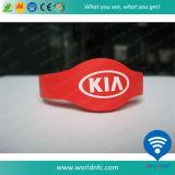Wristband personalizzato del silicone di Sli NFC RFID di codice di I per controllo di accesso