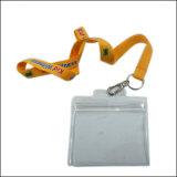 Logotipo personalizado Insígnio de plástico Reel ID Card Badge de nome com cordão (NLC025)