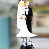 Décoration de mariage couple le bouchon de bouteille de vin de figurine