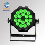 Rasha hoher Helligkeit Panta 18*15W 5in1 Rgbaw UVAlumnium LED NENNWERT Licht LED NENNWERT Projektor mit Powercon für Stadiums-Ereignis-Unterhaltung