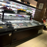 証明されるセリウムが付いているスーパーマーケットのアイスクリームの箱の島の表示フリーザー