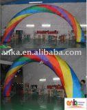 Arco inflável da forma redonda do tamanho gigante para Welcom com todo o logotipo impresso