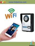 Sonnette visuelle de téléphone de porte d'interphone de garantie à la maison de WiFi
