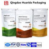 Saco de empacotamento do chá de pé plástico do produto comestível, malote do café