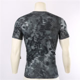 Mayorista de 2017 Python más barato Quick-Drying negro camuflaje camiseta