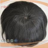 100% menschlicher kurzes Haar-voller Spitze-Unterseite PU-Rand-Spitze-VorderseiteMensToupee (PPG-l-0894)