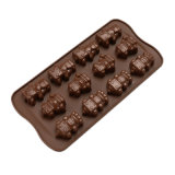 La FDA délivrent un certificat le moulage matériel de silicones de catégorie comestible, 12PCS pour le moulage différent de /Chocolate de moulage de pudding de silicones du modèle deux