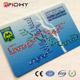 Le papier de carte de l'IDENTIFICATION RF MIFARE étiquette les cartes ultra-légères du transport EV1 public de MIFARE