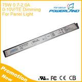 75W sottile eccellente 2A 0-10V che oscura il driver del LED con la regolazione corrente del resistore esterno