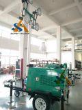 torre clara móvel do diodo emissor de luz 150W*4 com sistema de levantamento hidráulico