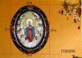 De godsdienstige Plaque van de Hars voor de Decoratie van Kerstmis
