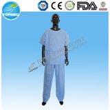 Wegwerfpatienten-Kleid des vliesstoff-PP/SMS