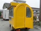 車輪との販売のためのカートデザインを販売する移動式ファースト・フードのハンバーガー
