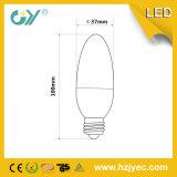 Guía de la cubierta transparente C35 LED luz de la vela de luz en barra 4W