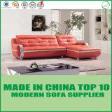 Горячая продавая софа мебели кожаный угловойая для квартиры