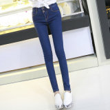 2017 heißes Frauen-Kleid-dunkelblaue Denim-Dame-Jeans